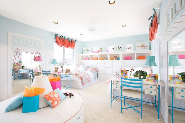 Large-Colorful-Pastel-Color-Kid-Bedroom-Design-with-White-Base-Color-Interior-and-Beautiful-Kid-Bedroom-Layout-also-Using-Retro-Furniture-Design-for-Girl-Bedroom-Ideas-Design